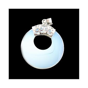 1 x Clear Opalite 28mm Donut Charm/Pendant CB50121