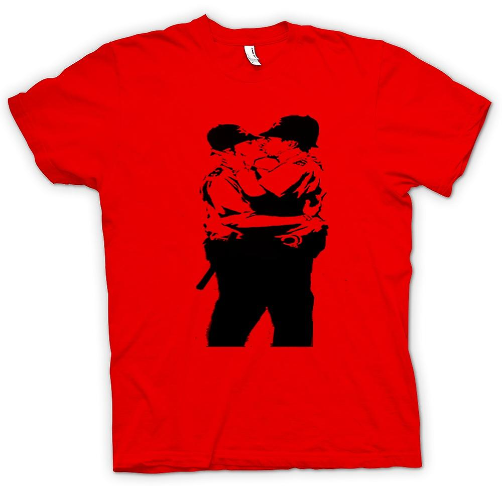 Policía de mens t-shirt - Graffiti Banksy arte - Gay