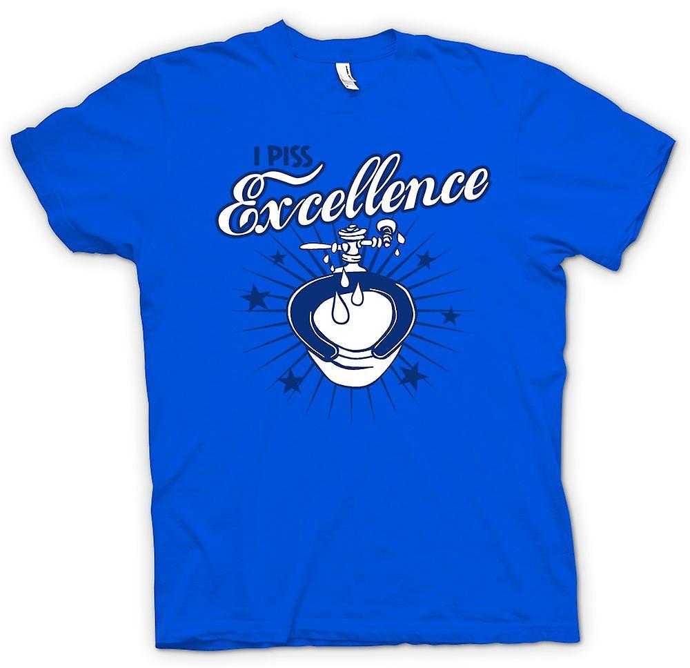 Mens t-skjorte - jeg Piss Excellence - morsomt