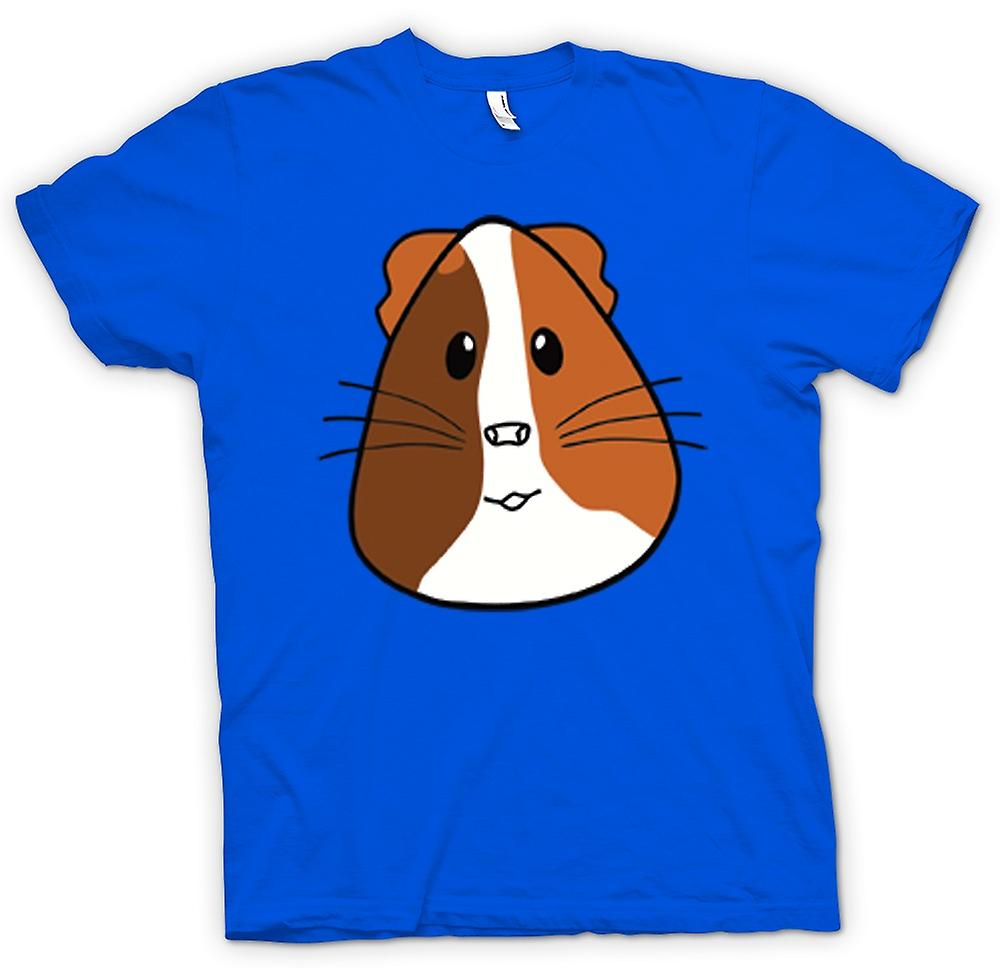 Heren T-shirt-Cartoon cavia gezicht