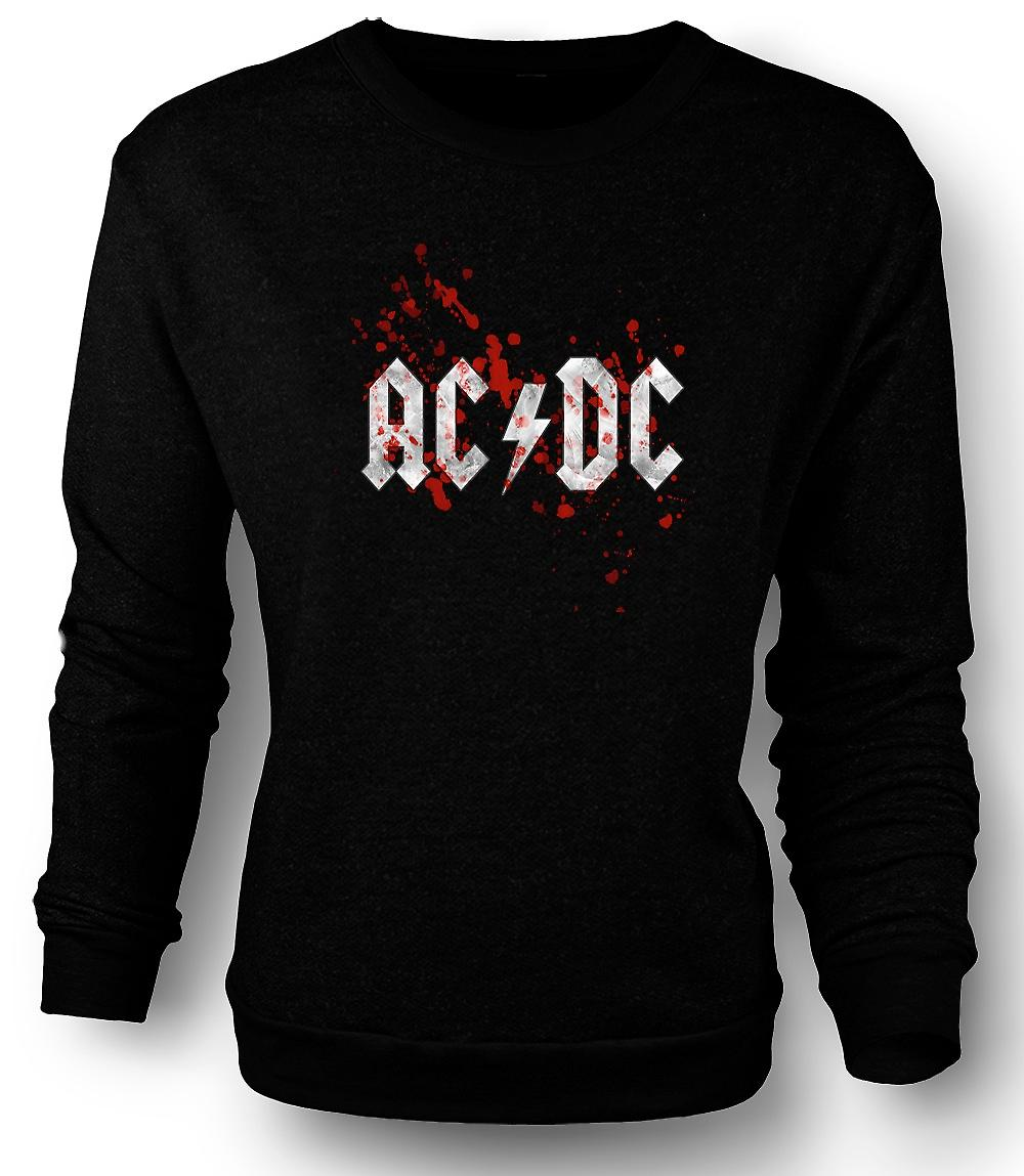 Mens Sweatshirt AC/DC - Rock Band - Logo