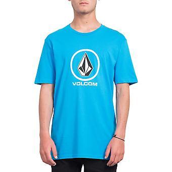 Volcom Men's T-Shirt ~ Crisp Stone  cyan