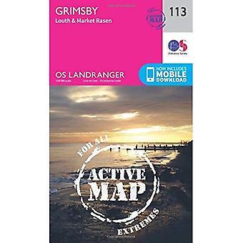 Grimsby, Louth & Market Rasen (OS Landranger Map)