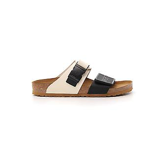 Rick Owens White/black Leather Sandals