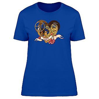 Mechanisches Herz Liebe Band T-Shirt Frauen-Bild von Shutterstock
