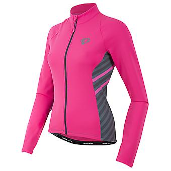 Pearl Izumi Screaming Pink Stripe Select Pursuit Thermal Womens Long Sleeved Cyc