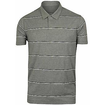 RVCA Mens VA Sport Sure Thing Stripe Polo Shirt - Gray/Black/White