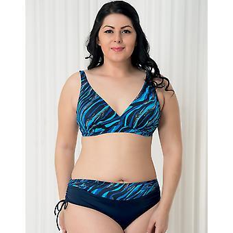 Aqua Perla - Womens -bahia- Blue Wave- Plus Size- Bikini Bottom