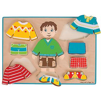 Bigjigs Toys Dressing Boy Puzzle Dress-Up Mix Match Chunky Jigsaw