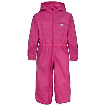 Kids Trespass Button Waterproof All-In-One Suit