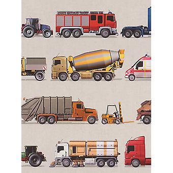 Vehicles Wallpaper Rasch 293906