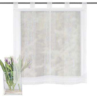 Home Living ideeën Raffrollo Gera transparant met lussen wol wit H/W 140x80 cm
