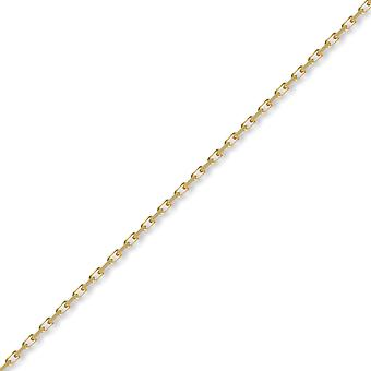 Jewelco London Unisex Solid 9ct Yellow Gold Italian Diamond Cut Belcher 2.3mm Gauge Pendant Chain Necklace
