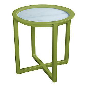 Flughafen7 | QUEENS LOUNGE TABLE GLAS 50CM |  Olive | Gartentische
