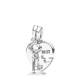 PANDORA Best Friends Heart and Key Necklace Pendant - 398130