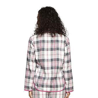 Cyberjammies 4250 Women's Lola Pink Mix Check Cotton Pyjama Top