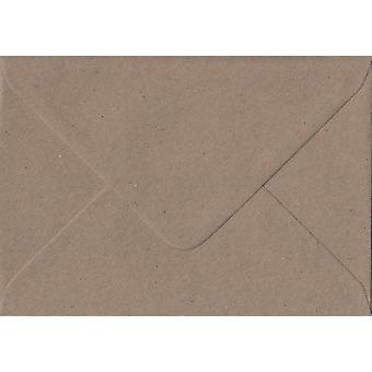 Fleck Kraft Gummed Greeting Card Coloured Brown Envelopes. 110gsm FSC Sustainable Paper. 125mm x 175mm. Banker Style Envelope.