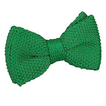 Forest Green Knitted Pre-Tied Bow Tie for Boys