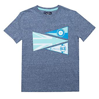 Infant Boys Ben Sherman Textured Pennants T-Shirt in Navy