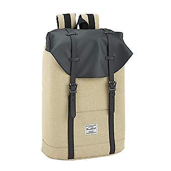 Boys' Backpack Blackfit8 Black & Sand Official - Portable