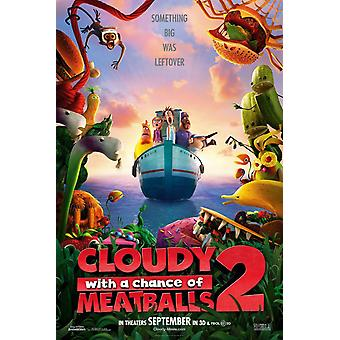 Cloudy With A Chance Of Meatballs 2 Poster Single Sided Advance (2013) Original Cinema Poster