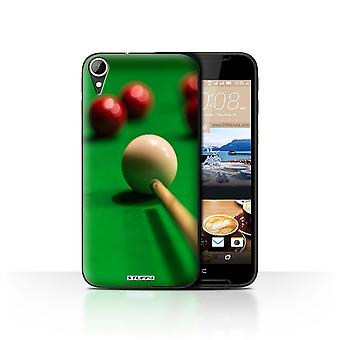 STUFF4 Case/Cover for HTC Desire 830/Red Ball/Cue/Snooker
