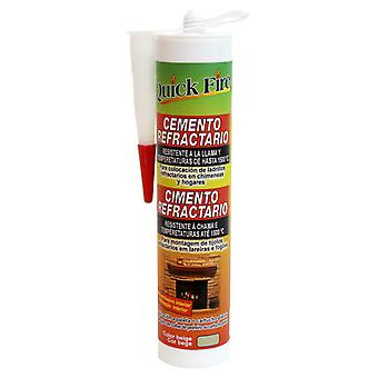 PQS Cement Refractory beige Pqs ready to use 310 ml (Garden , Barbecues , Furniture)