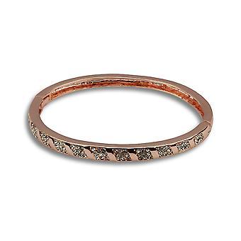 Rebecca rose gold bejewelled bracelet