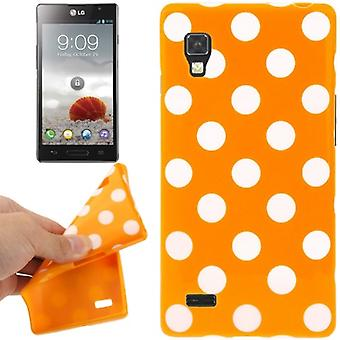 Protective case TPU points of case for mobile LG Optimus L9 / P760 orange