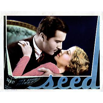 Seed From Left John Boles Genevieve Tobin 1931 Movie Poster Masterprint