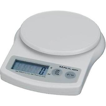 Letter scales Maul MAULalpha Weight range 5 kg Readability 1 g battery-powered White