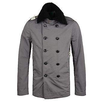 MA.Strum Freight Grey & Black Special Edition #1 Shearling Collar Jacket