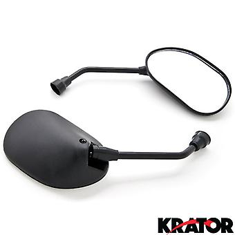 Custom Rear View Mirrors Black Pair w/Adapters For Kawasaki Vulcan Classic Nomad Voyager Vaquero 1700