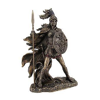 Bronzato Athena Dea della saggezza e della statua di guerra