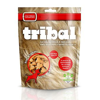 Tribal Natural Health hund behandler oksekød & tomat 130g (pakke med 6)