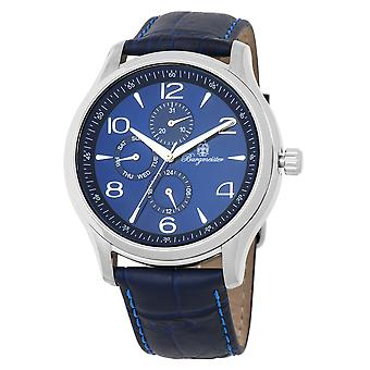 Burgmeister BMT04-133 Montpellier, Gents watch, Analogue display, Quartz with Seiko Movement - Water resistant, Stylish leather strap, Classic men's watch