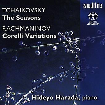 Tchaikovsky/Rachmaninov - Tchaikovsky: Las estaciones del año; Rachmaninov: Variaciones Corelli [SACD] USA importar