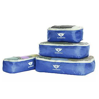 Slimbridge Milán Set de 4 cubos de embalaje, azul