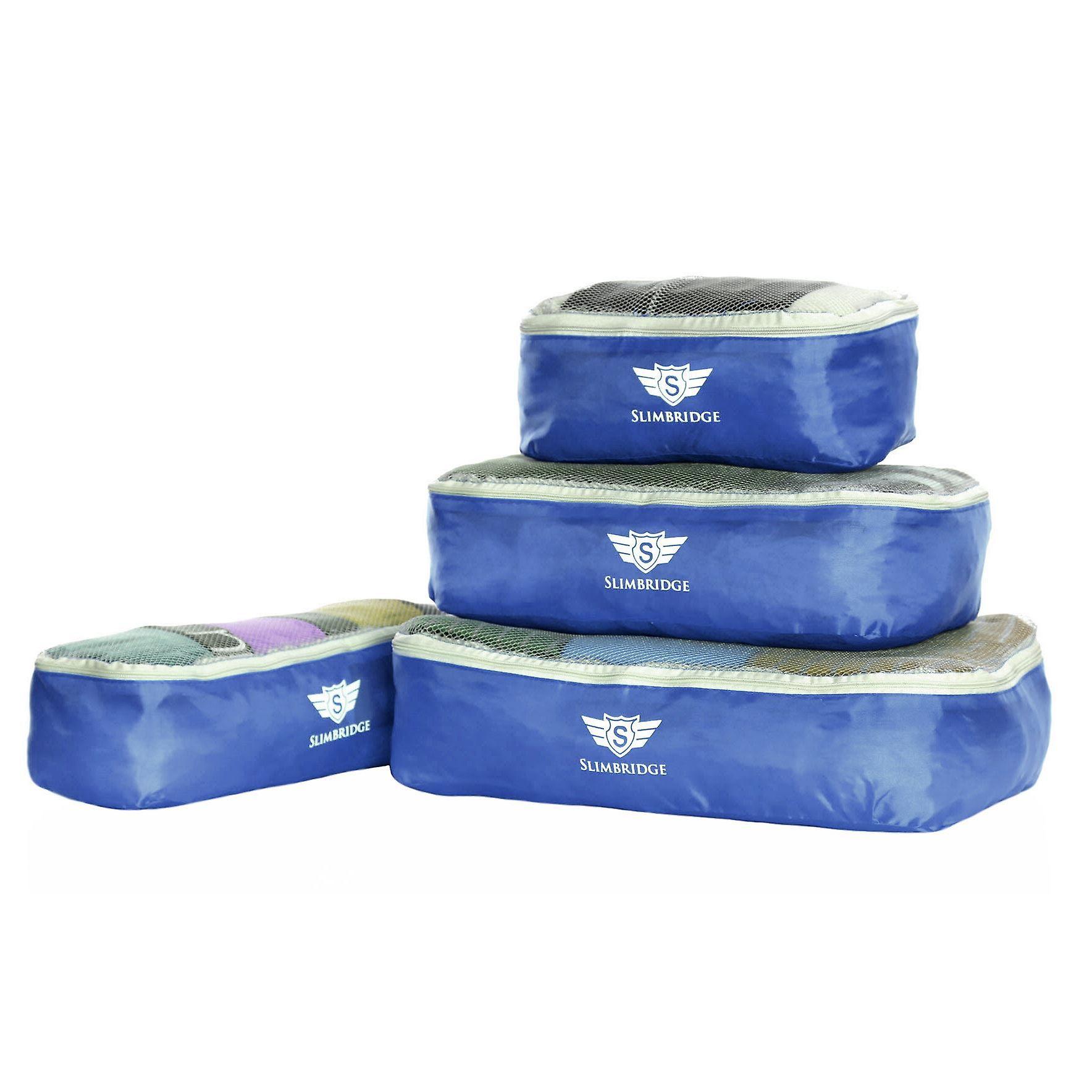 Slimbridge Milan Set of 4 Packing Cubes, Blue