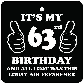 63e verjaardag belabberde auto luchtverfrisser