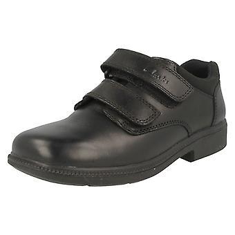 Chłopcy Clarks skórzana Classic szkoły obuwia Deaton
