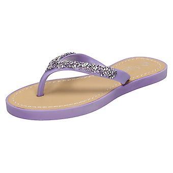 Niñas Junior sabana Diamante del dedo del pie puesto sandalias H0148