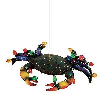 Finurlig blå Krabbe dekoreret for ferie juletræ Ornament