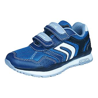 Geox J Pavel A Boys Trainers / Shoes - Navy Blue