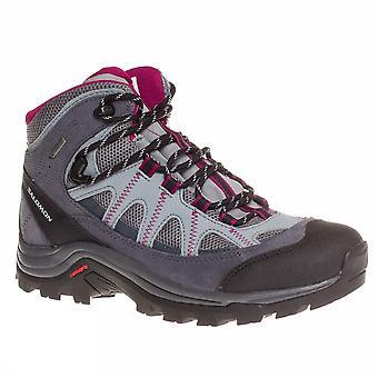 Salomon Authentic Leather Gtx W L37326100 Damen Trekking Schuhe