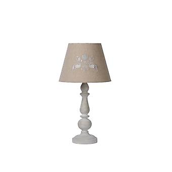 Lucide ROBIN Table Lamp E27 H49cm Shade D26-H19,5cm Taupe