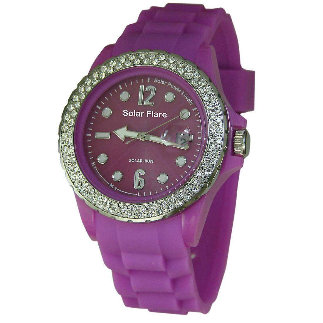 Solar Flare Watch - Purple - Jewelled Bezel