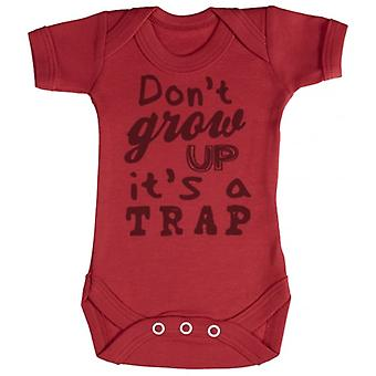 Spoilt Rotten Don't Grow Up It's A Trap Short Sleeve Baby Bodysuit