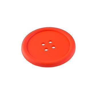 Giant Button Silicone Coaster - Red