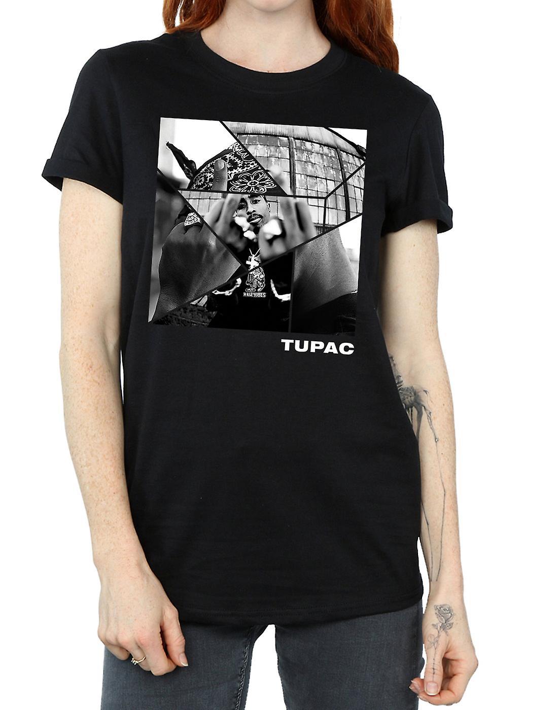 2Pac Women's Broken Up Boyfriend Fit T-Shirt